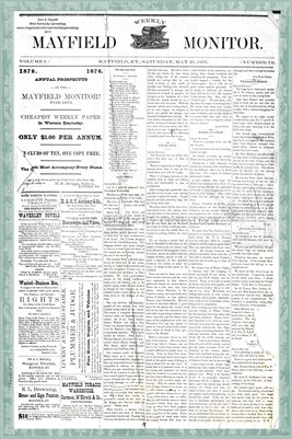 (Pages 1-2) Mayfield Monitor, May 20, 1876