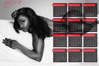 LaShay 2017 Calendar B/W