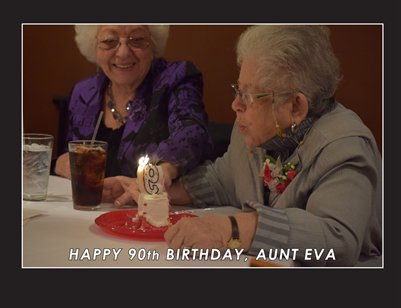 Aunt Eva's 90th Birthday Book