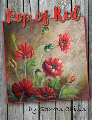 Pop of Red - Red Poppies Painting Pattern - Sharon Chinn