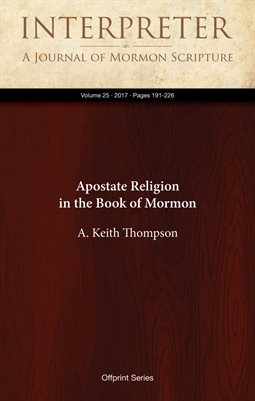 Apostate Religion in the Book of Mormon