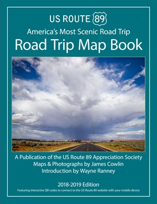 Us Route 89 Us Route 89 Road Trip Map Book 2018 Magcloud - Us-route-89-map