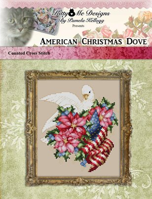 American Christmas Dove Cross Stitch Pattern