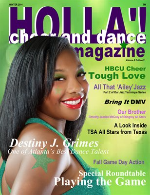 HOLLA'! Cheer and Dance Magazine Winter 2014 Issue