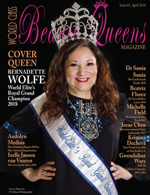 World Class Beauty Queens Magazine Issue 67 with Bernadette Wolfe