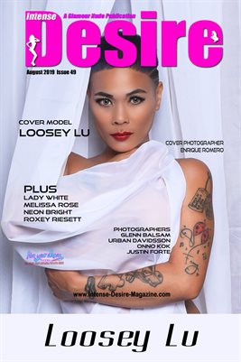 INTENSE DESIRE MAGAZINE COVER POSTER - Cover Model Loosey Lu - August 2019