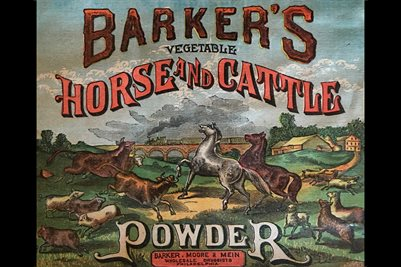 1850'S BARKER'S VEGETABLE HORSE AND CATTLE POWER