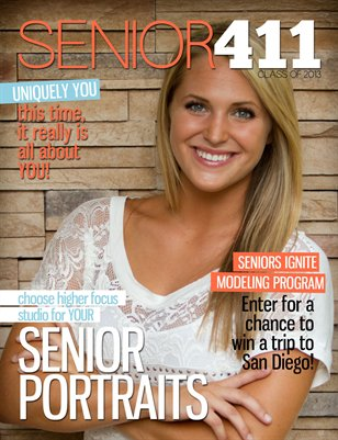 2013 Senior Portrait Session Info
