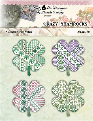 Crazy Shamrock Ornaments Cross Stitch Pattern