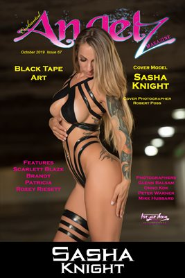 ENCHANTED ANGELZ MAGAZINE COVER POSTER - Cover Model Sasha Knight - October 2019