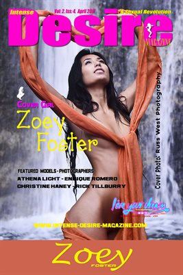 INTENSE DESIRE MAGAZINE POSTER - Cover Girl Zoey Foster - April 2017