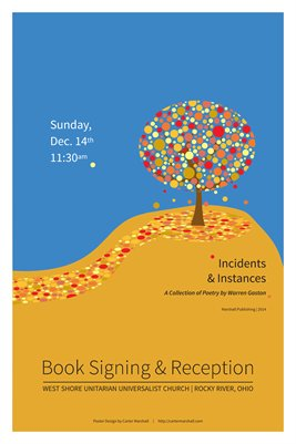 Incidents & Instances | Book Signing Poster