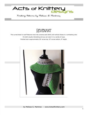 Revenant Shawl Knitting Pattern
