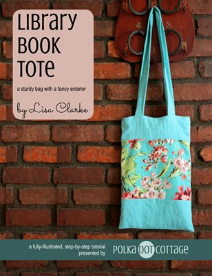 Library Book Tote Sewing Tutorial
