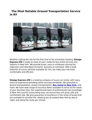 Bus Rental Brooklyn