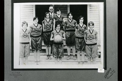 1930 Pilot Oak Girls Basketball Team, Pilot Oak, Graves County, Kentucky
