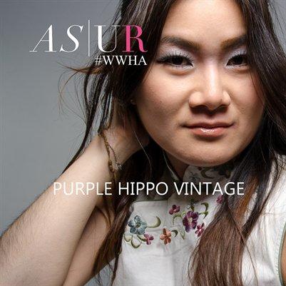 #WWHA Purple Hippo Vintage