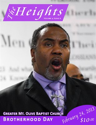 Volume 4 Issue 6 - Greater Mt. Olive Baptist Church Brotherhood Day