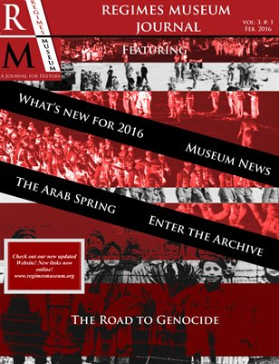 Regimes Museum Journal Volume 3, Issue 1