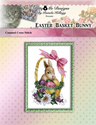 Easter Basket Bunny Cross Stitch Pattern