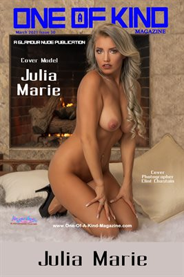 ONE OF A KIND MAGAZINE COVER POSTER - Cover Model Julia Marie - March 2021