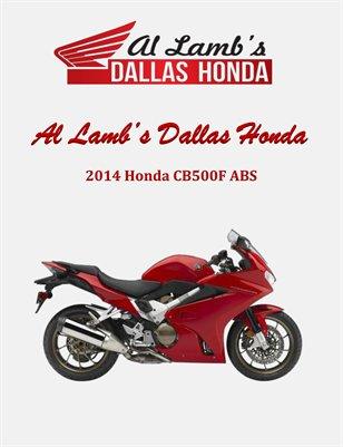 Al Lamb's Dallas Honda: 2014 Honda VFR800 Interceptor Deluxe (Demo)