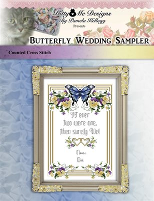 Butterfly Wedding Sampler Cross Stitch Pattern
