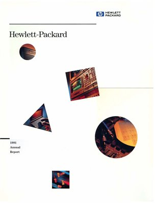 HP Annual Report 1991