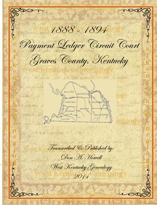 1888-1894 Payment Ledger Circuit Court, Graves County, KY