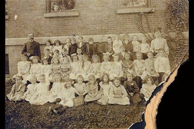1903 Oak Street School Room 1, 271 Pauline Memphis, TN. Clanton Robinson, also says Aurora ILL.