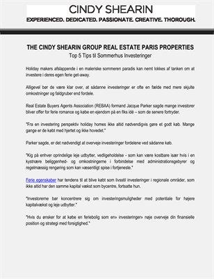 The Cindy Shearin Group Real Estate Paris Properties: Top 5 Tips til Sommerhus Investeringer
