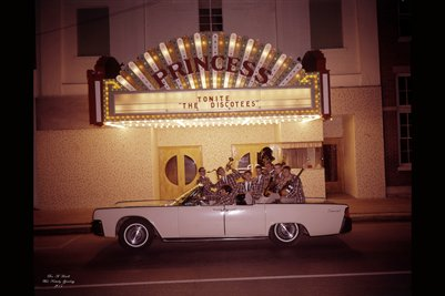 August 1965, The Discotees at the Princess Theater in Mayfield, Kentucky