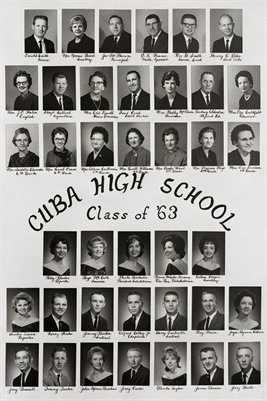 1963 Cuba High School Seniors