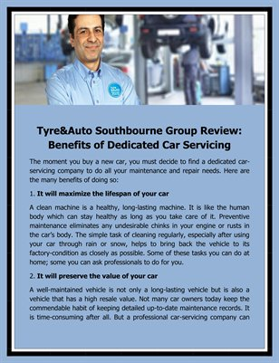 Tyre&Auto Southbourne Group Review: Benefits of Dedicated Car Servicing