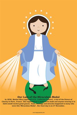 Happy Saints Our Lady of the Miraculous Medal Poster