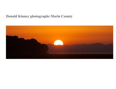 Donald Kinney photographs Marin County, volume 2