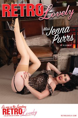 Miss Jenna Purrs Cover Poster 2 - Issue No. 115