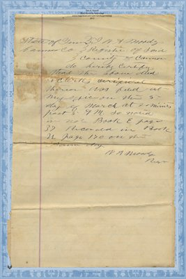 (PAGES 3-4) 1885 Deed,  Patten to Jernigan, Cannon County, Tennessee