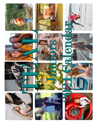Teal Juniors 2021 Calendar