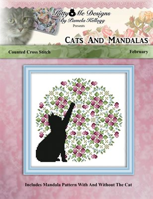 Cats And Mandalas February Cross Stitch Pattern