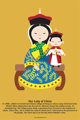 Happy Saints Our Lady of China Poster