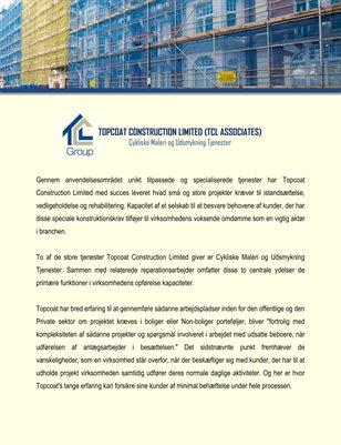 Topcoat Construction Limited (TCL Associates): Cykliske Maleri og Udsmykning Tjenester