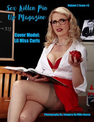 Sex Kitten Pin Up Magazine May 2019 Issue Lil Miss Curls Cover 1