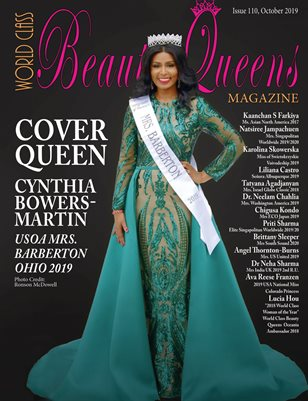 World Class Beauty Queens Magazine Issue 110 with Cynthia Bowers-Martin