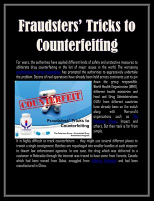 Fraudsters' Tricks to Counterfeiting