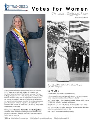 No-Sew Suffrage Sash