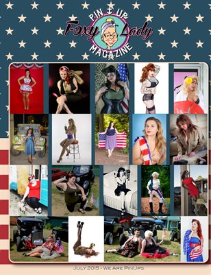 """We are PinUps - Patriotic"" - FoxyLadyPinUpMagazine Issue #10"