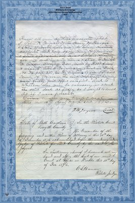 1877 Power of Attorney, P.H. Joyner to B.F. Long, Warren & Forsyth Counties, N.C.