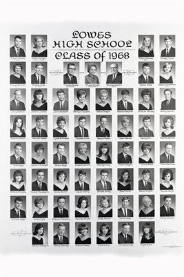 1968 Lowes High School Senior Class