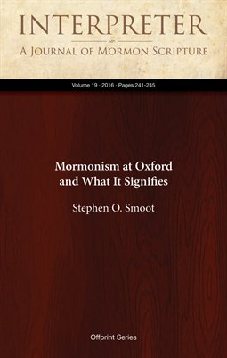 Mormonism at Oxford and What It Signifies